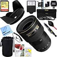 Nikon (2182) 16-35mm f/4G ED-VR AF-S Wide-Angle Zoom Lens + 64GB Ultimate Filter & Flash Photography Bundle