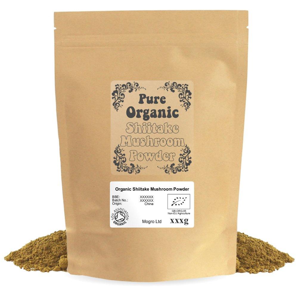 Mogro Certified Organic Shiitake Mushroom Powder (500g) by Mogro