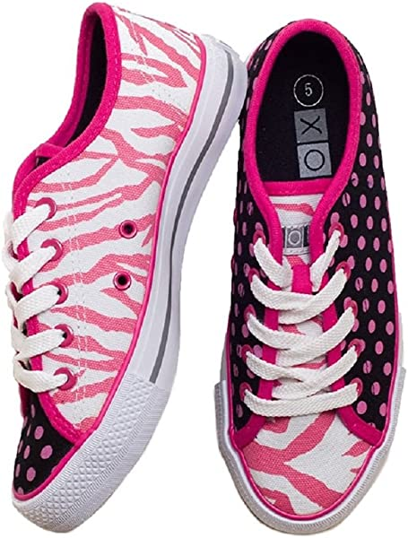XOLO Pink Zany Zebra Shoes - Girls Size 1 116e33ca9