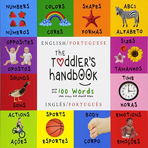 Baby Bible Animals - The Toddler's Handbook: Bilingual (English / Portuguese) (Inglês / Português) Numbers, Colors, Shapes, Sizes, ABC Animals, Opposites, and Sounds, with ... Learning Books (Portuguese Edition)