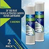 Carbon Block Water Filter 2 pcs Big Blue CTO Carbon Block Water Filters 4.5