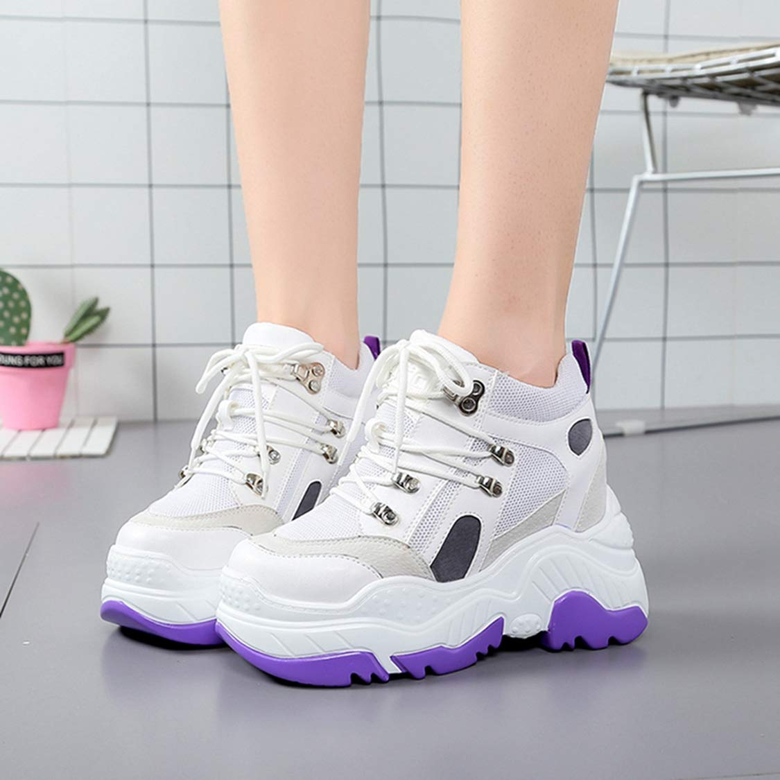 e2c252c4a3bb3 Amazon.com | DOSOMI Women Sneakers Height Increasing Vulcanize ...