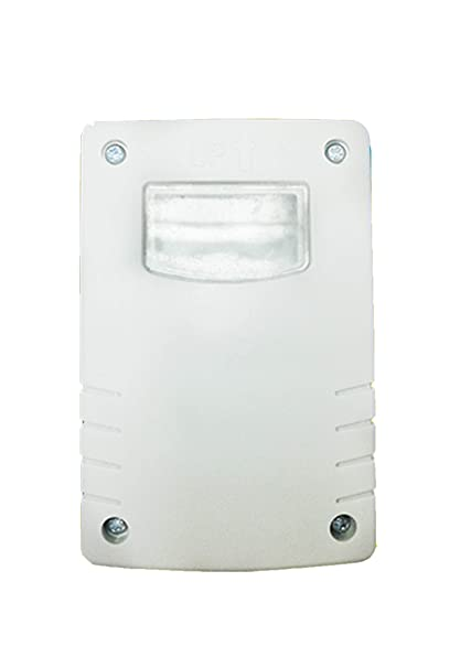 Garza Power - Detector Crepuscular Regulable Exterior, protección IP44, color Blanco