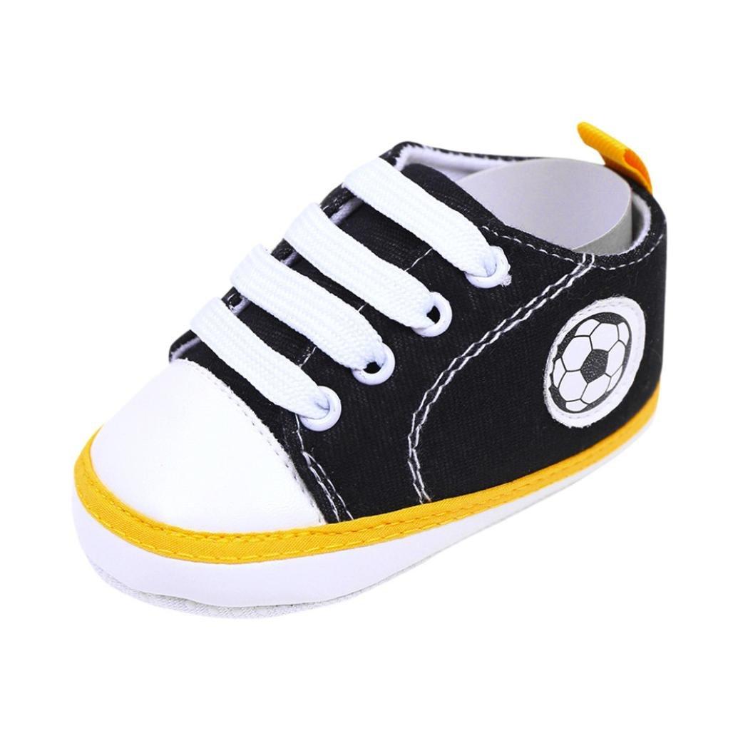 Pour 0-18 mois chaussures de bébé, Amlaiworld Bébé infantile Basket Print football Antidérapant Semelle molle Chaussures de toile (11/0-6m, Rouge) Amlaiworld Bébé Chaussures