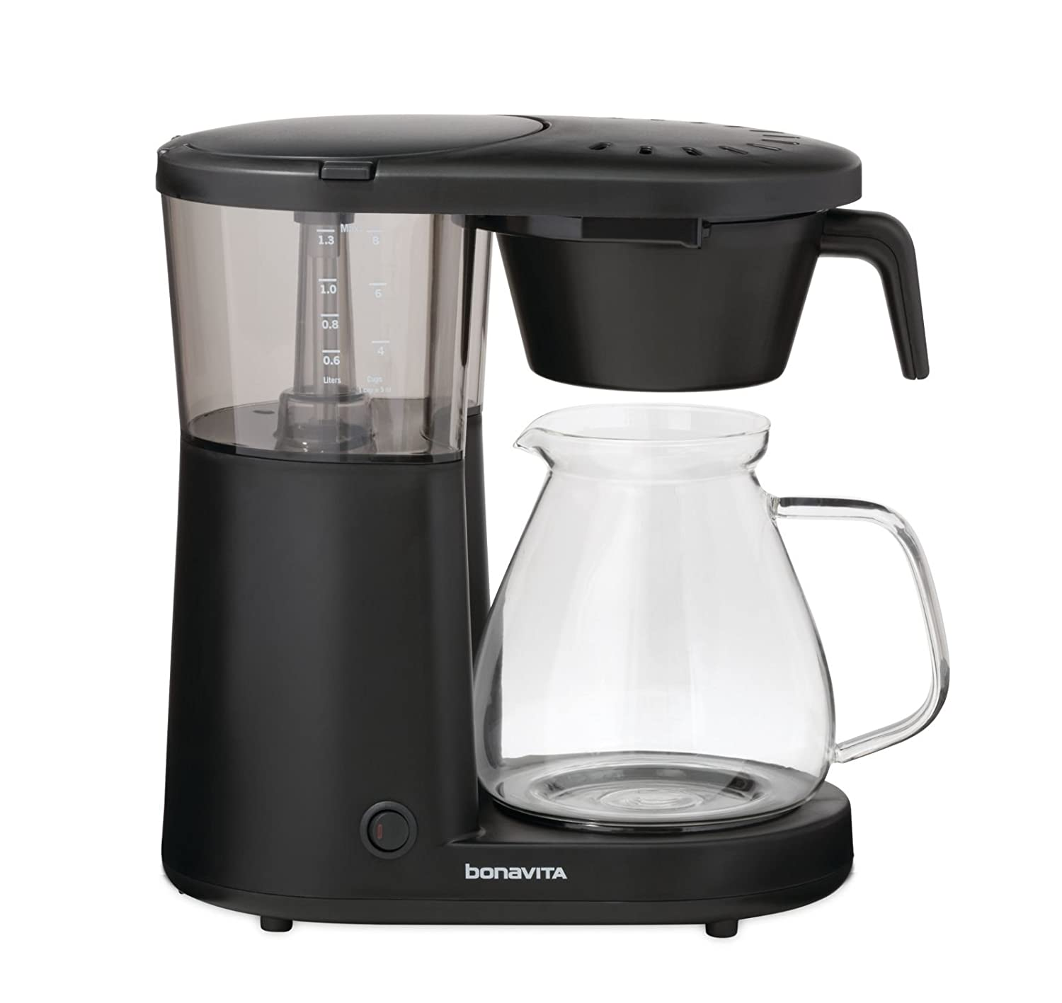 "Bonavita BV1901PW Metropolitan One-Touch Coffee Brewer Length: 12.60"" Width: 6.80"" Height: 12.20"" Black"