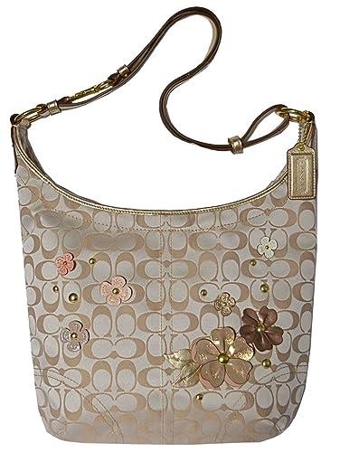 aaeb1d67bc Amazon.com  Coach Signature Floral Flower Applique Duffle Handbag Tote  18896  Shoes