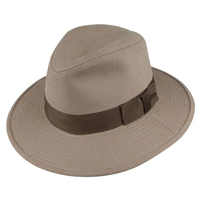 Sombrero Fedora Safari Indiana Jones de algodón - Kaki  Amazon.es  Ropa y  accesorios c90d64520df