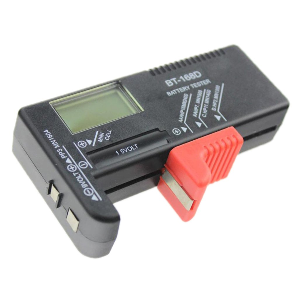 Homyl Battery Checker Tester for AA AAA C D 9V 1.5V 9V Button Cell Battery