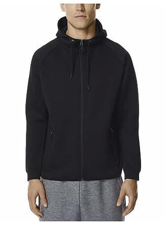 32 DEGREES Men s Hoodie Sweatshirt Full Zip Tech Fleece Track Jacket (Black 70ecef5da83c