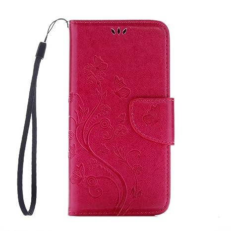 Para Huawei Y6 II Compact / Y6 2 Compact(no es compatible con Huawei Y6 II), Sunrive Funda Cuero Sintético Protectiva Carcasa Cuero Resistente Cierre ...