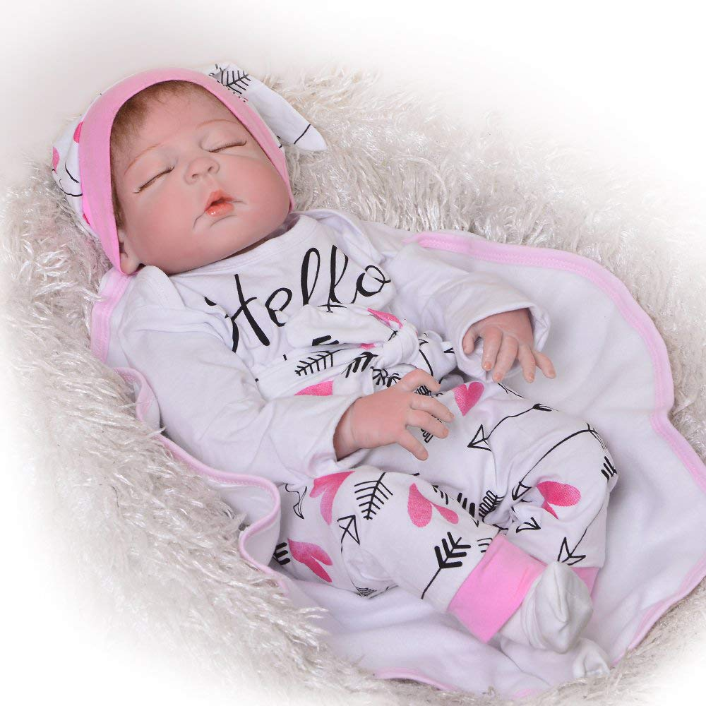 aquí tiene la última Muñeca Que Parece un bebé Real, 16 16 16 Pulgadas de Vinilo, Reborn Girl, Seguridad Probada para niños de Edad 3 +, Set de Regalo de 6 Piezas  precio mas barato