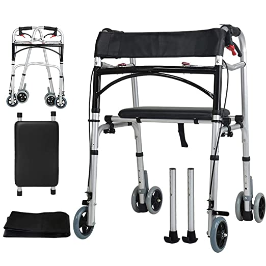WY-WHEEL Andador Plegable para Ancianos Aluminio Ligero, con Dos ...