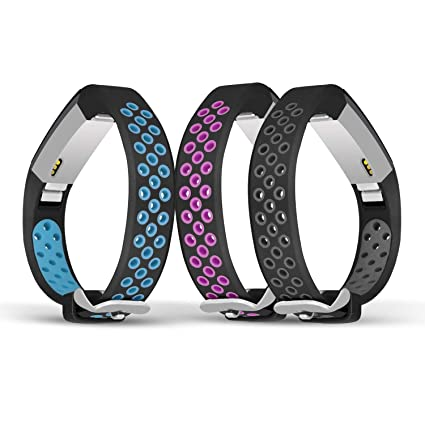 Jobese Compatible with Fitbit Alta Bands & Alta Hr & Fitbit Ace Bands, (3  Pack) Two-Tone Soft Breathable Bands Compatible with Fitbit Alta/Alta  Hr/Ace