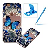 TPU Case for iPhone 6S Plus,Clear Case for iPhone 6 Plus,Herzzer Ultra Slim Stylish [Colorful Pattern] Soft Silicone Gel Bumper Cover Flexible Crystal Transparent Skin Protective Case