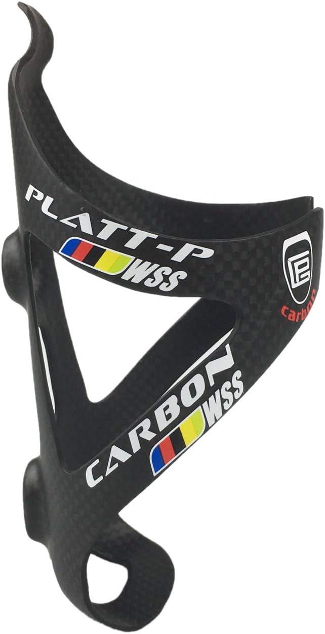 PLATT Porta Borracce Fibra di Carbonio Super Leggero Porta Borraccia Gabbia Porta Bottiglia per Bici MTB