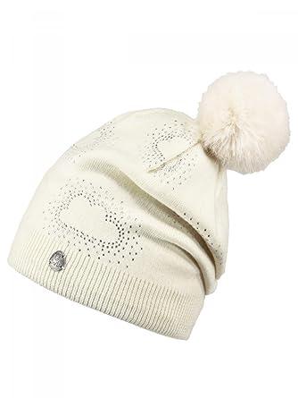 fc855936234c0 BARTS - Bonnet blanc ivoire pompon imitation fourrure Enfant Fille 3 ...