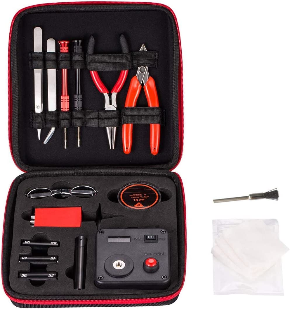 DIY Building Tool Kit Home DIY Tool Set,14 Pieces General Household Tool Master kit for Home Maintenance Jewelry Industrial Repairs with Toolbox Storage Case
