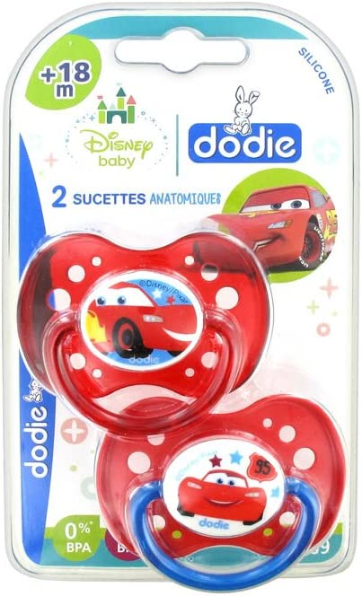 6 Mois dodie Sucette Anatomique Duo Cars A68