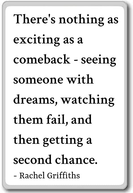 Hay nada de vuelta en emocionantes como un... - Rachel Griffiths ...
