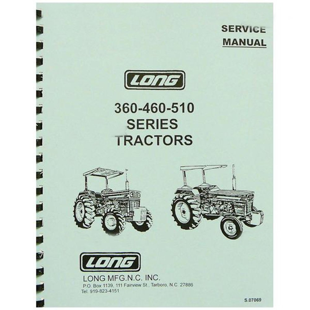 Amazon.com: New Long Tractor Service Manual 360 460 460DT 460SD 460V 510  510DT: Industrial & Scientific