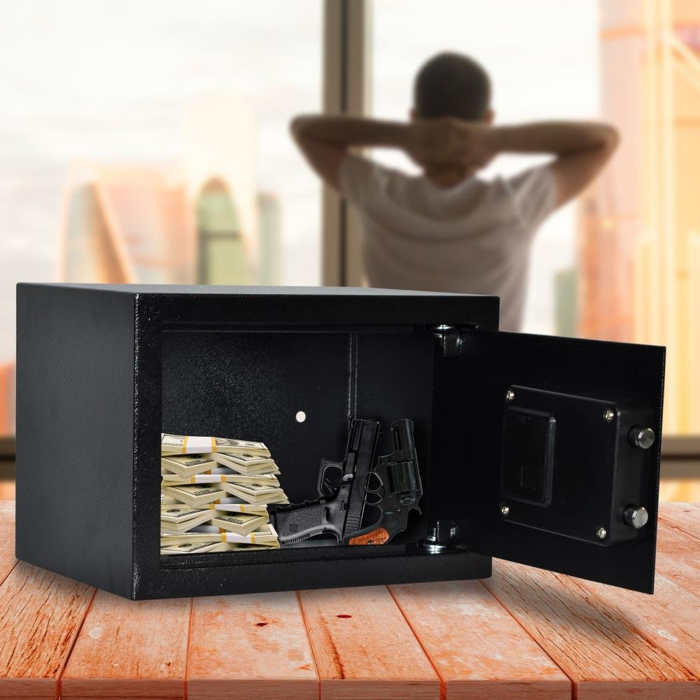 SereneLife Fireproof Lock Box, Fireproof Box, Safe, Safes, Safe Box, Safes And Lock Boxes, Money Box, Fire Proof Safety Boxes for Home, Digital Safe Box, Steel Alloy Drop Safe, Includes Keys (SLSFE14) by SereneLife (Image #6)