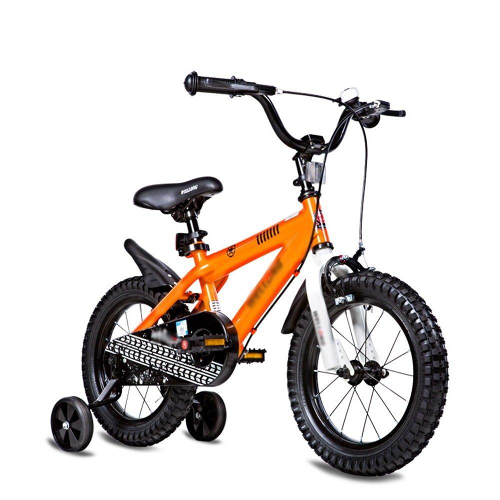 HAIZHEN マウンテンバイク 子供の自転車のサイズオプション12インチ14インチ16インチ18インチ20インチ環境保護材料6色オプション 新生児 B07CCK4BNF 14 inches|オレンジ オレンジ 14 inches