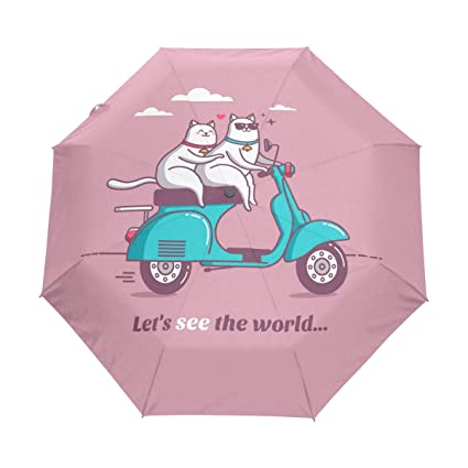 Amazon.com: Senya - Paraguas para patinete vintage con ...