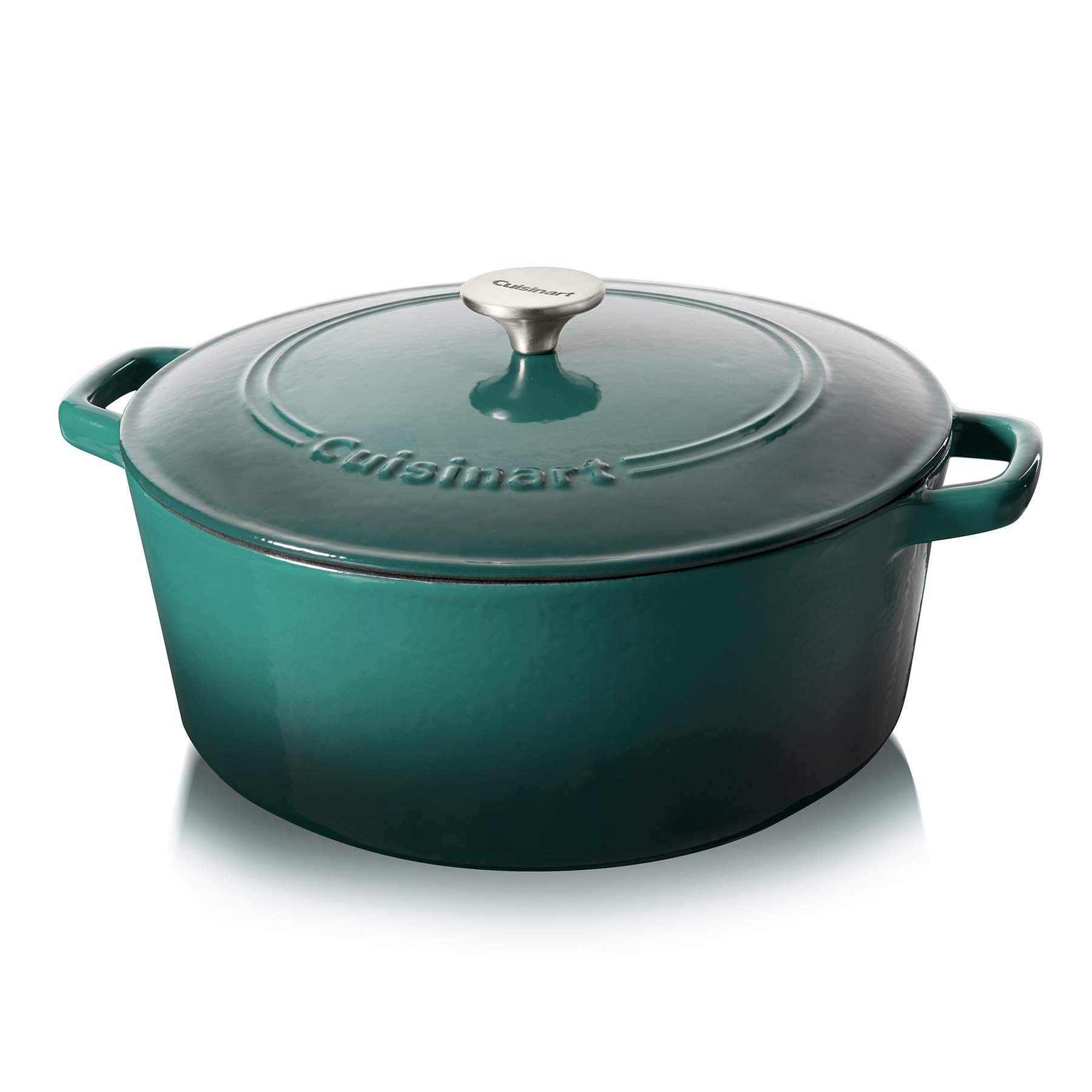 Cuisinart Cast Iron 7-Quart Casserole, Teal Gradient