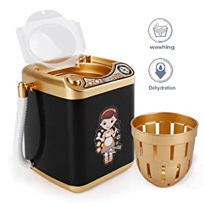 Makeup Brush Cleaner Device, Automatic Electronic Cleaning Washing Machine, Deep Clean Machine Washing Tools Cleaning Brushes Mini Toy for Beauty Blender Sponges, Cosmetic Brushes, Powder Puffs