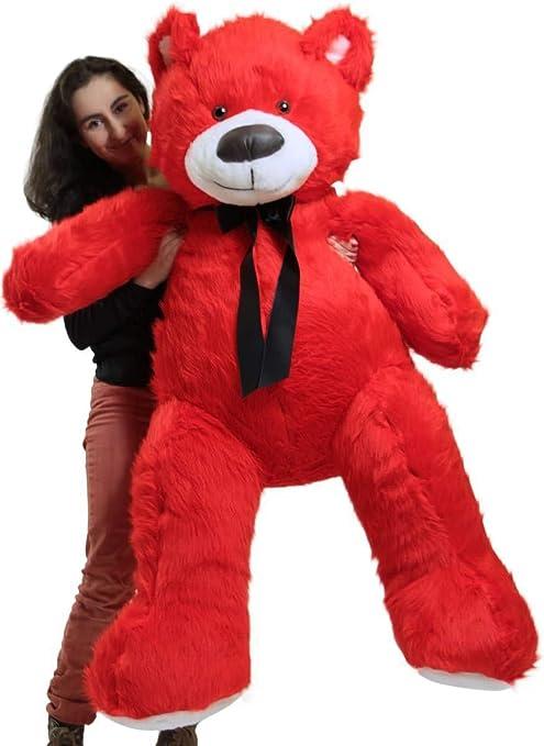 Red Teddy Bear 5 Feet, Big Plush Giant 5 Foot Red Teddy Bear Soft Stuffed Animal Made In America Animals Amazon Canada