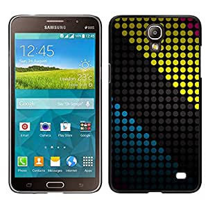 CASEMAX Slim Hard Case Cover Armor Shell FOR Samsung Galaxy Mega 2- COLORED DOTS PATTERN