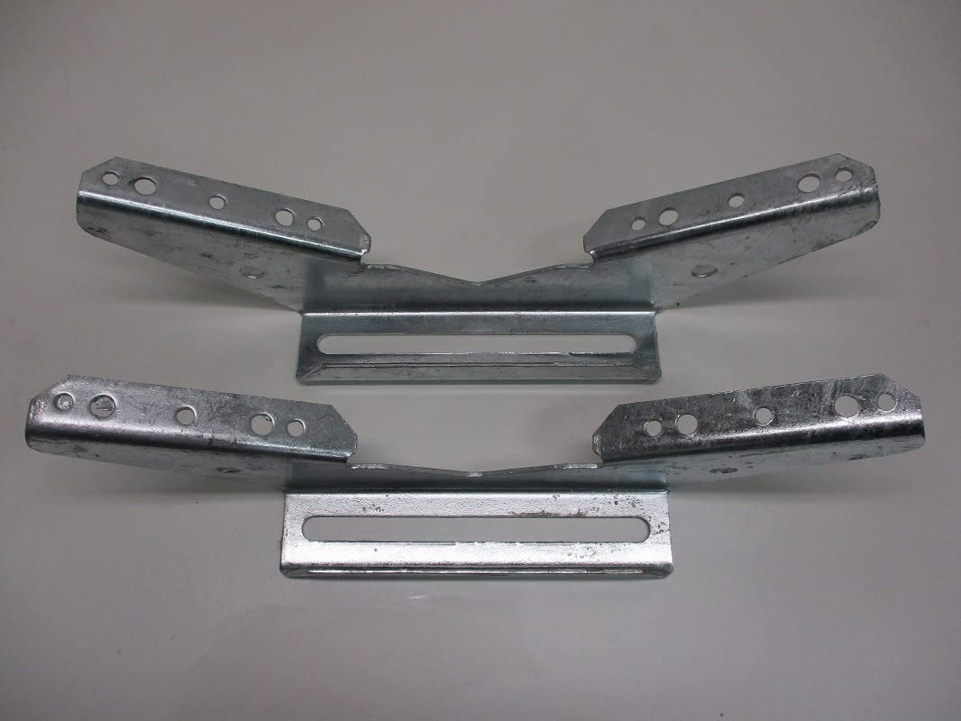 Adjustable Galvanized 4 V Wing Pontoon Boat Trailer Bunk Bolster Brackets