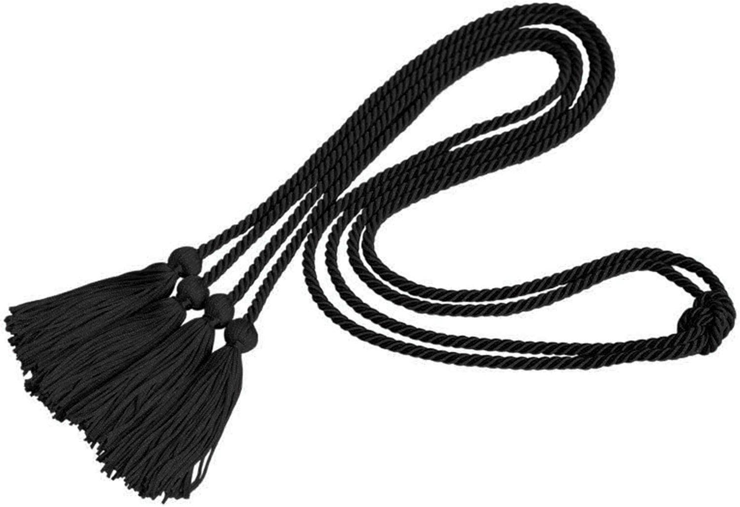 Trounistro 8 Pieces Graduation Cords Yarn Honor Cords with Tassel for College Graduation Students Blue Red with White