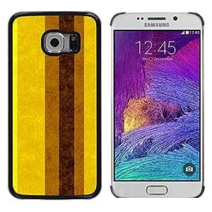 iKiki Tech / Estuche rígido - Pastel Brown Yellow Vertical Mustard - Samsung Galaxy S6 EDGE SM-G925