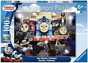 Ravensburger Thomas The Tank Engine: Say Cheese, Thomas! 100Piece XXL Jigsaw Puzzle for Kids Age 6 & Up - Every Piece is Unique, Piece Fit Together Perfectly