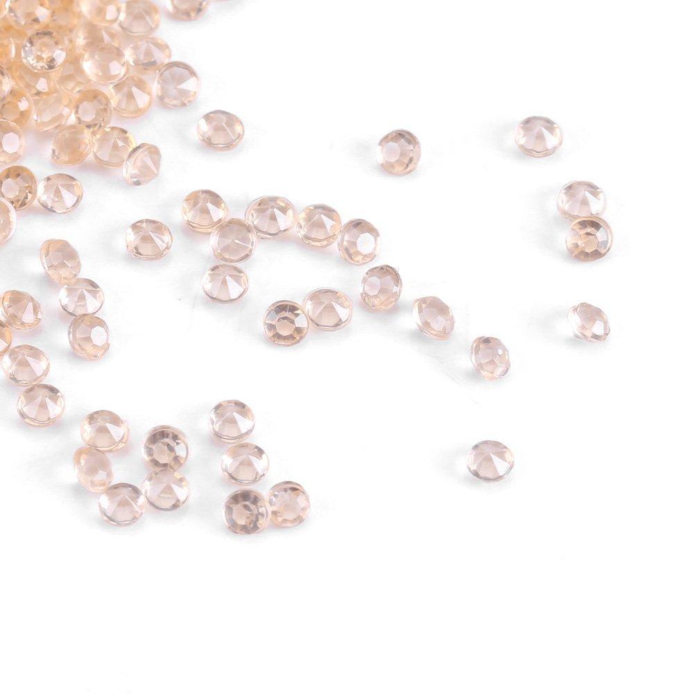 Asixx Acrylic Crystals, 1000Pcs/Bag 3mm Acrylic Beads for Vase Filler Wedding Decor DIY Ornament Accessories(Nude Color)