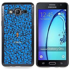 "Qstar Arte & diseño plástico duro Fundas Cover Cubre Hard Case Cover para Samsung Galaxy On5 O5 (Azul Sea diferente Dibujo lindo del personaje"")"