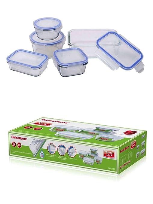 Tarteras de con tapa 10 piezas Tarro - Tartera rectangular cristal ...