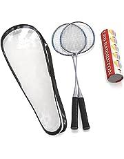 Premium calidad Juego de raquetas de bádminton por capacitado, par de 2 raquetas, ligero