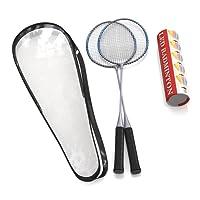 Ensemble de qualité premium de raquettes de badminton en plus, Paire de 2raquettes, légère et robuste, avec 5LED volants, pour les professionnels et les lecteurs débutants, Sac de transport inclus