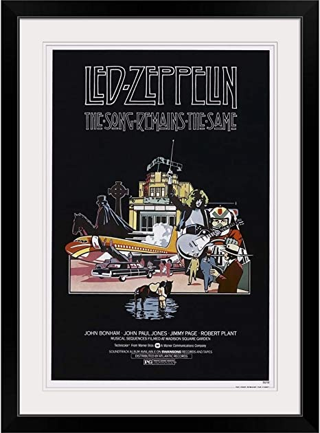 The Song Remains the Same Black Framed Wall Art Print Led-Zeppelin Home Decor