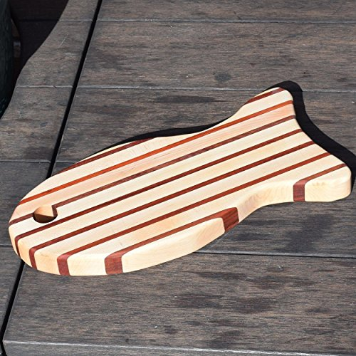 Handcrafted Large Wood Fish Cutting Board