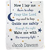 Blue GiftsForYouNow Now I Lay Me Personalized Fleece Baby Blanket