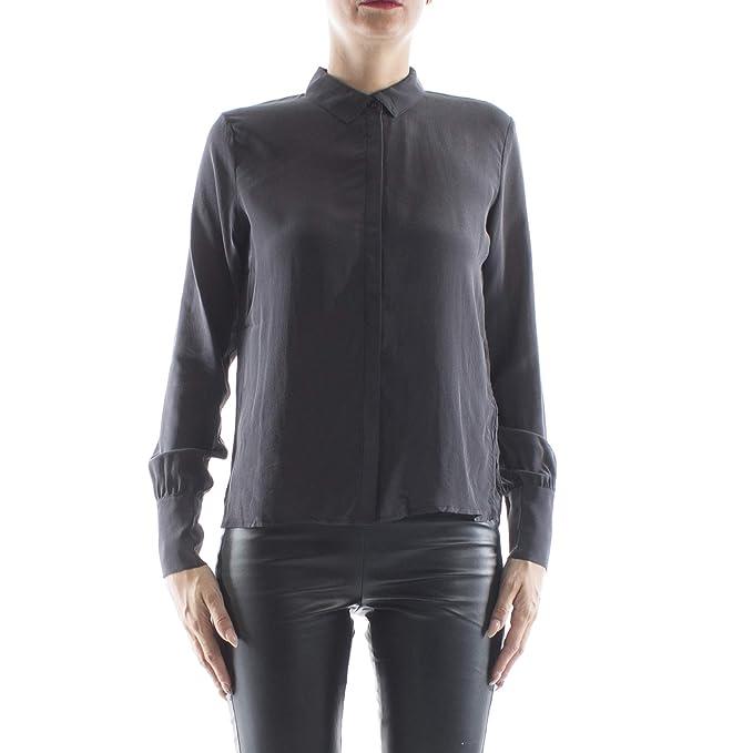 the best attitude 5cd40 0753f MINIMUM Camicia Donna Nera in Seta: Amazon.it: Abbigliamento