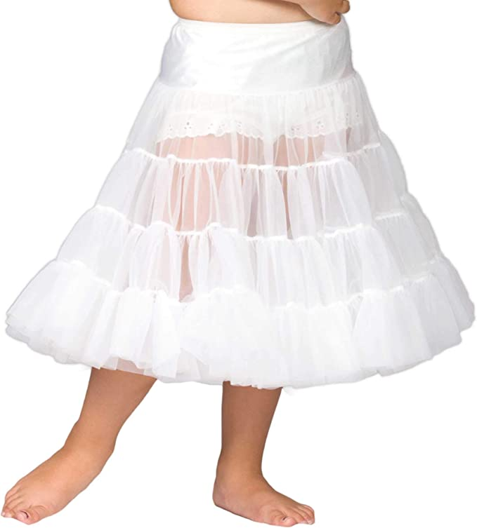 I.C Collections Little Girls White Bouffant Slip Petticoat 4T 2T