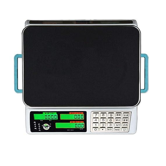 LLRDIAN Balanzas electrónicas Balanzas comerciales de Venta de Verduras 30 kg. Precisión del hogar. Plataforma de pesaje electrónica.