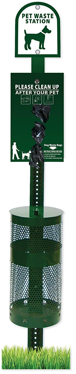 Dog Waste Station - Free 400 Dog Waste Bags, Free 50 can Liners by Zero Waste USA