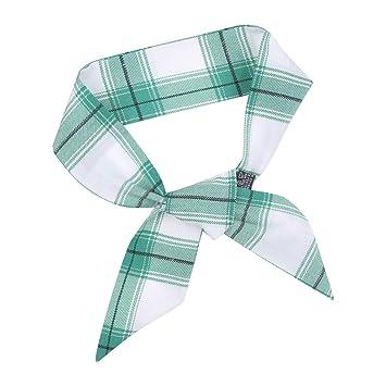 Iusun - Cinta para el pelo, diseño de cuadros, corbata, corbata ...