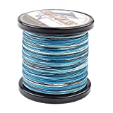 HERCULES Super Strong 500M 547 Yards Braided Fishing Line 70 LB Test for Saltwater Freshwater PE Braid Fish Lines 4 Strands - Blue Camo, 70LB (31.8KG), 0.44MM