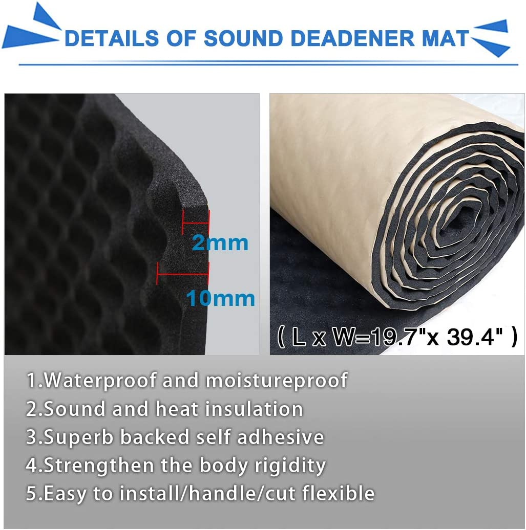 19 7 X39 4 5 4sqft Tonstudio Akustikschaum Schallschutz Akustik Matte Dämmmatte De De Auto